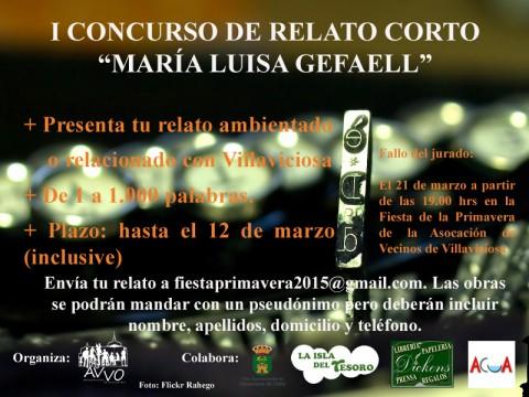 """I CONCURSO DE RELATO CORTO """"MARÍA LUISA GEFAELL"""""""